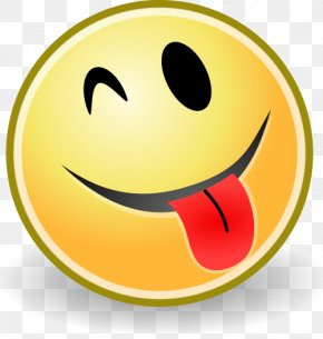 Tongue Smiley - Smiley Emoticon Tongue Clip Art PNG