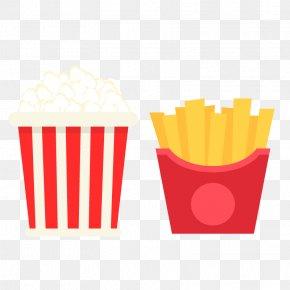 Cinema Eat Popcorn - Popcorn French Fries PNG