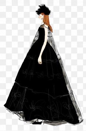 High-end Women's Dress Illustration - Formal Wear Drawing Wedding Dress PNG