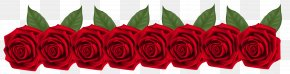 Red Rose Decorative - Red Flower Clip Art PNG