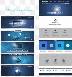 Vector Web Design Renderings - Responsive Web Design User Interface Design Flat Design PNG