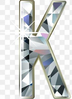 Diamond Letter K - Letter Alphabet Font PNG
