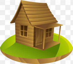 A Log Cabin In The Woods - House Log Cabin Cottage Drawing PNG