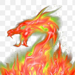 Red Domineering Dragon Effect Elements - Dragon Red PNG