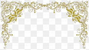 Yellow Frame - Picture Frames Paper Arabesque Ornament PNG