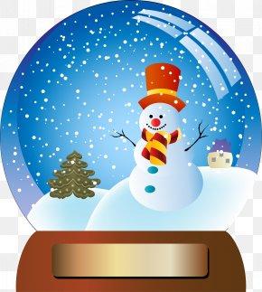 Snowball Snowman - Santa Claus Christmas Tree Snowball Clip Art PNG