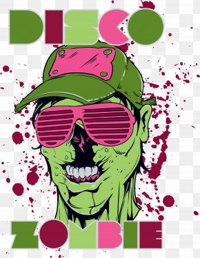 Hat Glasses Skull Print - T-shirt Printing Computer File PNG
