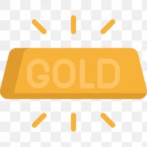 Gold Icon One - Ingot Gold Bar PNG
