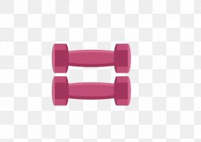 Vector Pink Dumbbell - Euclidean Vector Illustration PNG
