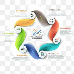 Streamers Curve Category Ppt Element - Infographic Chart Diagram Information PNG
