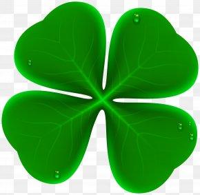 Four Leaf Clover Transparent Clip Art Image - Four-leaf Clover Shamrock Clip Art PNG