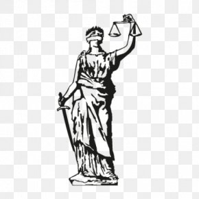 Blind Justice Tattoo - Lady Justice Clip Art PNG