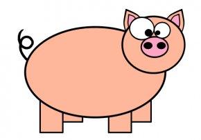 Pink Pig Clipart - Domestic Pig Pig Roast Cartoon Clip Art PNG
