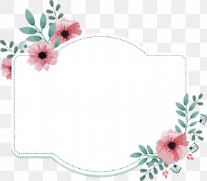 Pink Flower Decorative Box - Gift Wedding Party Anniversary Bride PNG