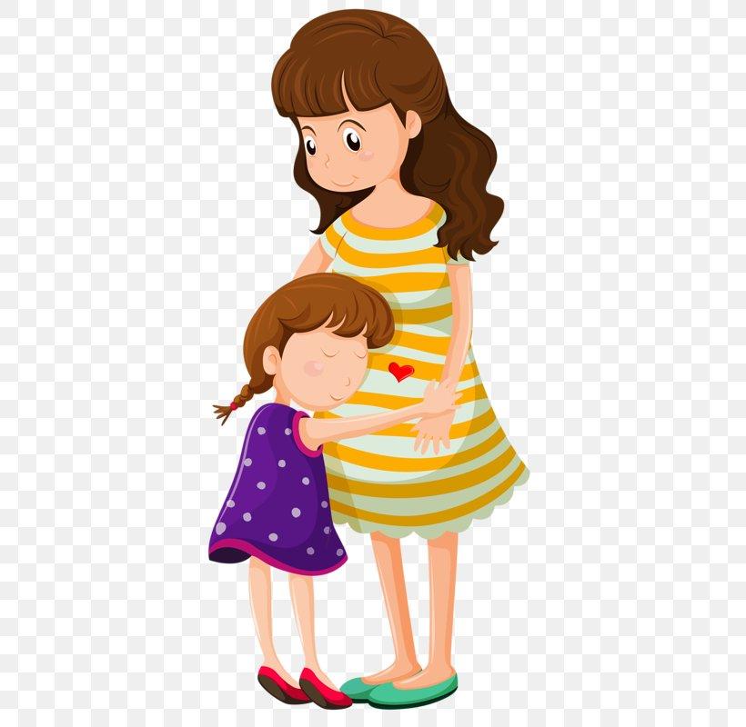 Fröhliche Kinder, die Vektordoodle-Herz zeichnen Stock-Vektorgrafik  (Lizenzfrei) 392335207