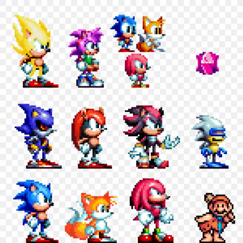 Sonic The Hedgehog 3 Shadow The Hedgehog Knuckles The Echidna Sprite Pixel Art Png 894x894px Sonic