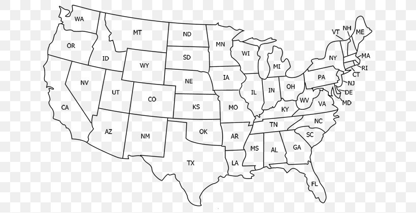 United States World Map U.S. State Abbreviation, PNG ...