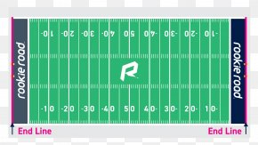 American Football - American Football Field Hash Marks Football Pitch PNG
