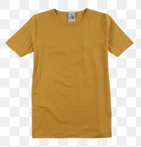 T-shirt - T-shirt Mustard Polo Shirt Sleeve Uniqlo PNG