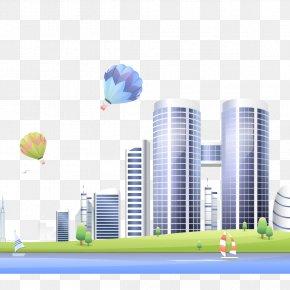 Vector Creative Building Building - Euclidean Vector Building PNG