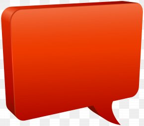 Speech Bubble Red Clip Art Image - Rectangle Red PNG