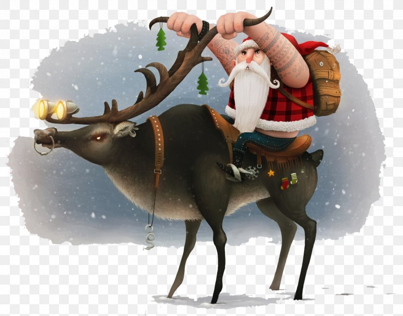 Santa Claus Reindeer Christmas Motorcycle Wallpaper, PNG, 2559x2010px, Santa Claus, Antler, Biker, Christmas, Christmas And Holiday Season Download Free