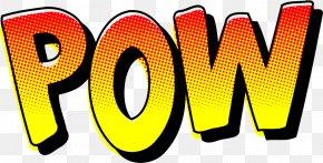Batman Pow Font - Sound Effect Comic Book Comics Clip Art PNG