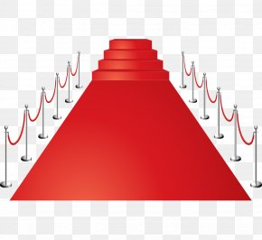 Vector Red Red Carpet Stairs Fence - Red Carpet Euclidean Vector PNG