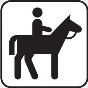 Trail Ride Cliparts - Horse&Rider Equestrianism Icon PNG