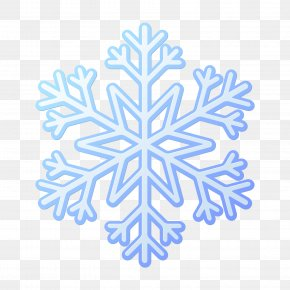 Hexagonal Single Snowflake Pattern - Snowflake Euclidean Vector Blue PNG