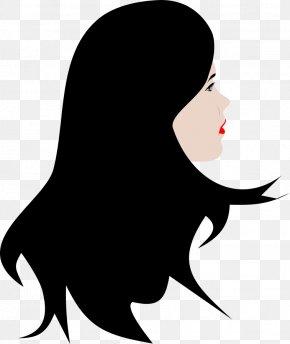 Beauty School Cliparts - Long Hair Black Hair Clip Art PNG
