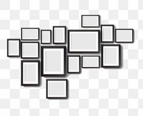 Black Frame - Picture Frame Wall Drawing Photography PNG