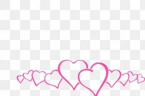 Heart Border - Right Border Of Heart Pink Clip Art PNG