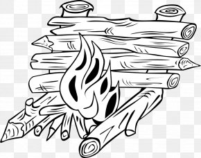 Pictures Of Campfires - Log Cabin Coloring Book Clip Art PNG