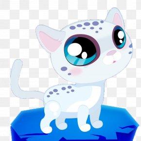 Big Eyes Leopard Cartoon Style - Whiskers Leopard Cat Kitten Clip Art PNG