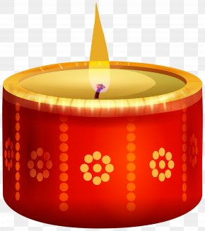 India Candle Red Transparent Clip Art Image - Diwali Candle Clip Art PNG