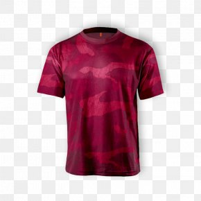 Printed T Shirt Red - Printed T-shirt Sleeve Unisex PNG