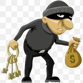 Vector Thief - Robbery Cartoon Theft Illustration PNG