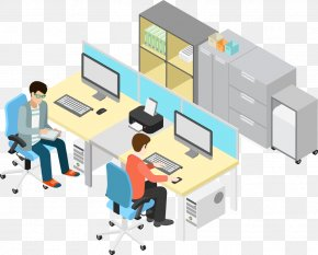 Vector Business Office People - Office Illustration PNG