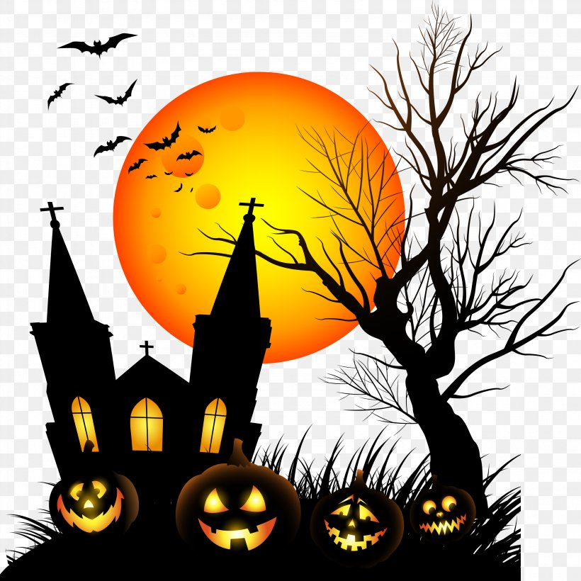 Halloween Costume Party Jack-o'-lantern Pumpkin, PNG, 3173x3174px, Halloween, All Saints Day, Art, Clip Art, Haunted House Download Free