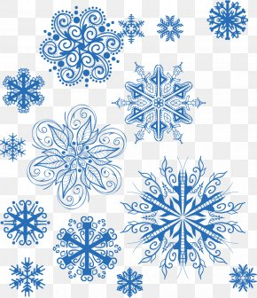 Creative Blue Snowflake Winter - Snowflake Euclidean Vector Pattern PNG