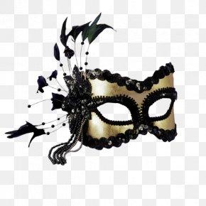 Carnival Mask - Masquerade Ball Mask Mardi Gras Gold Costume PNG
