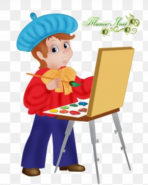 Lottery - Painter Drawing Child Art Watercolor Painting PNG