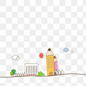 Pencil Building - Pencil Cartoon PNG