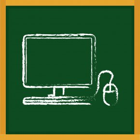 Laptop Vector Blackboard - Blackboard Learn Drawing Icon PNG