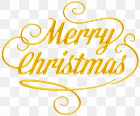 Merry Christmas Text Transparent Clip Art - Christmas Paper New Year Clip Art PNG
