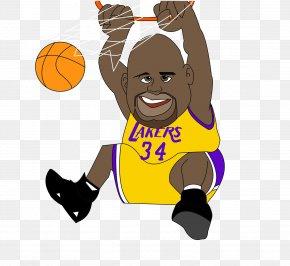 NBA Star - NBA All-Star Game Los Angeles Lakers Basketball Cartoon PNG