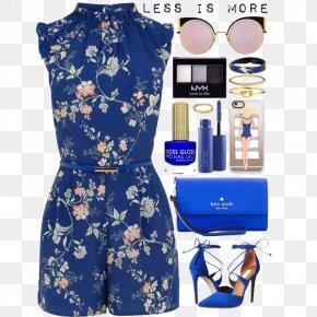 Floral Dress And High Heels Bag - Playsuit T-shirt Hoodie Jumpsuit Neckline PNG