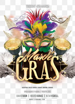 Masquerade - Flyer Mardi Gras Advertising Carnival Marketing PNG