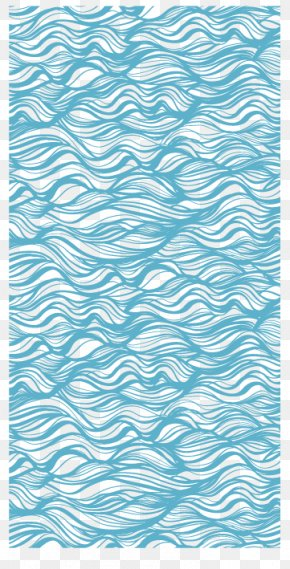 Blue Ocean Wave Pattern Background - The Great Wave Off Kanagawa Wind Wave Pattern PNG